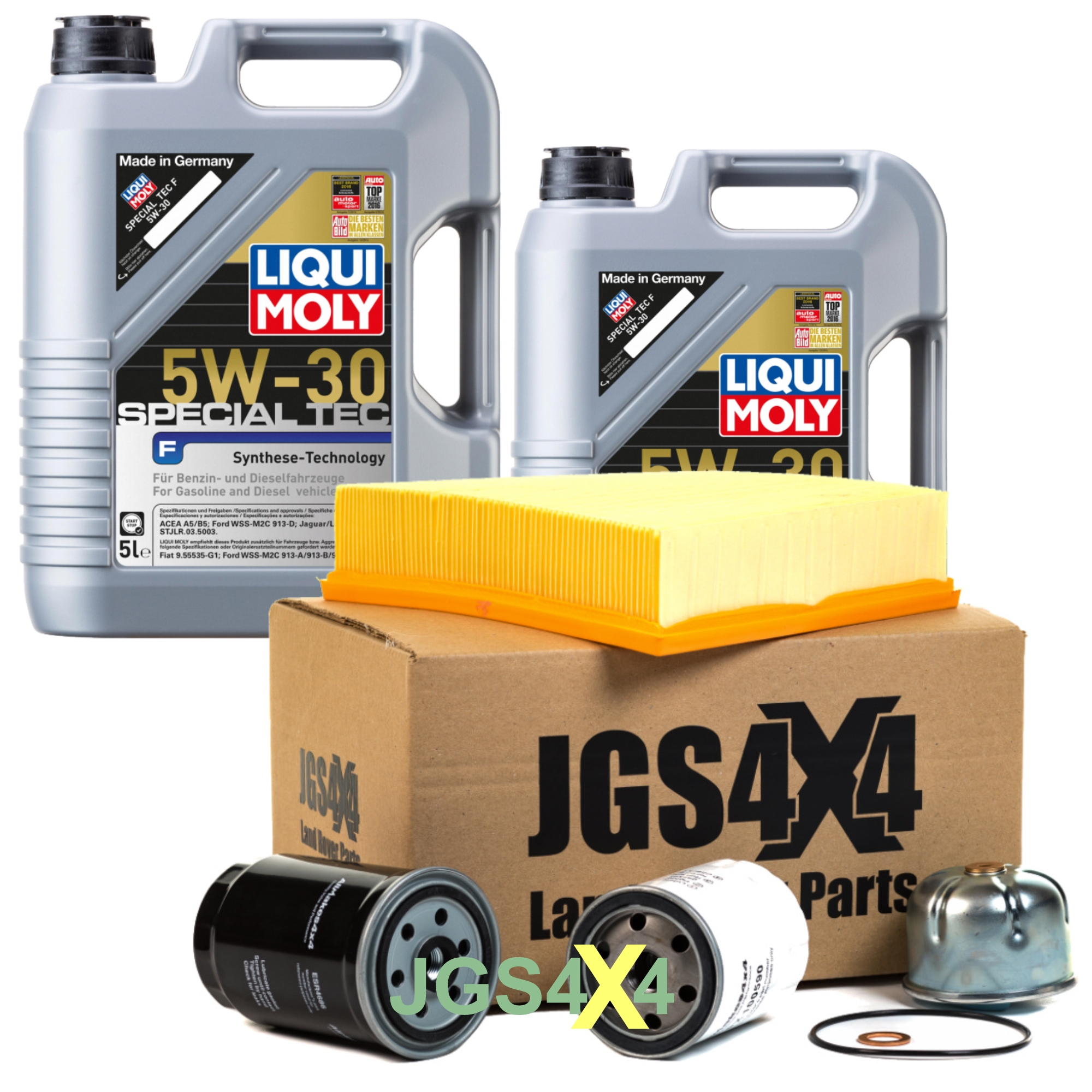 Land Rover TD5 Engine Service Kit with Liqui Moly 5W30 Engine Oil.