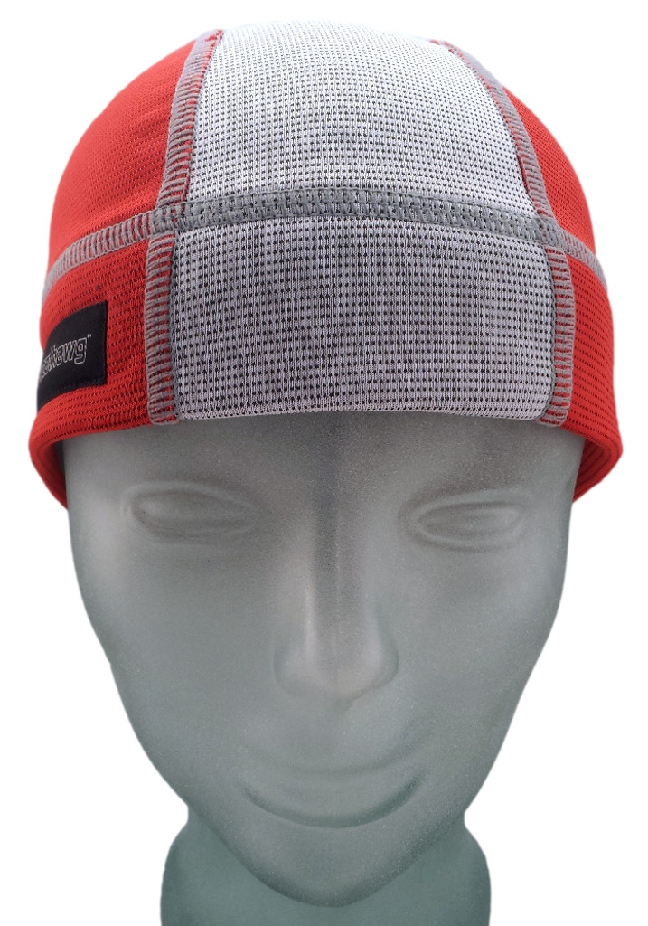 Firecracker Red and Ash White SweatHawg Skull Cap