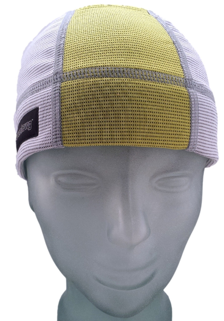 Ash White and Lemon Yellow SweatHawg Skull Cap