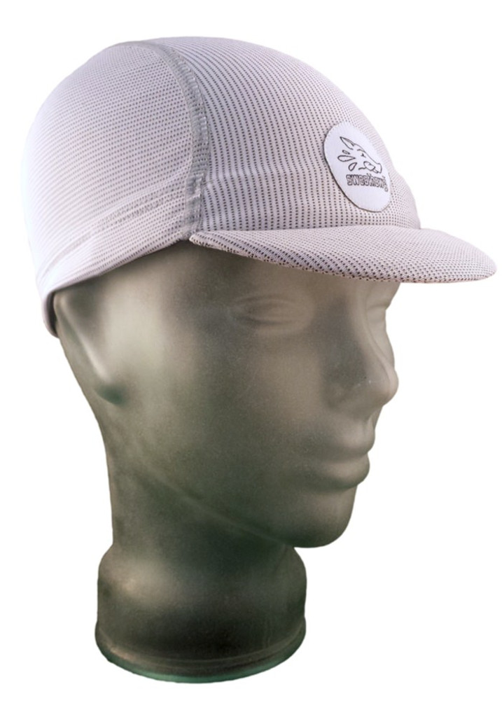 Cycling Cap in Ash White