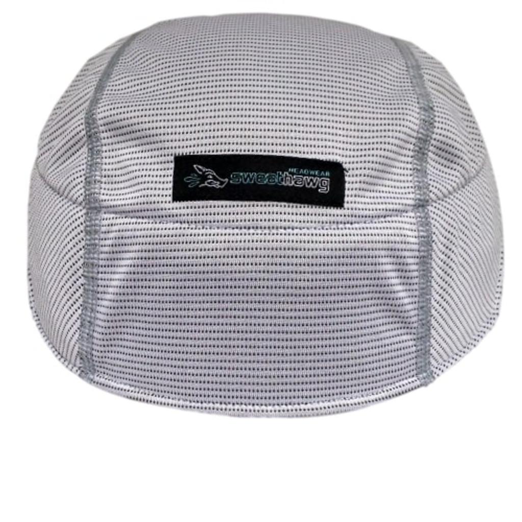 Helmet Sweat Liner in white.  Ultra absorbent material.  By SweatHawg Headwear