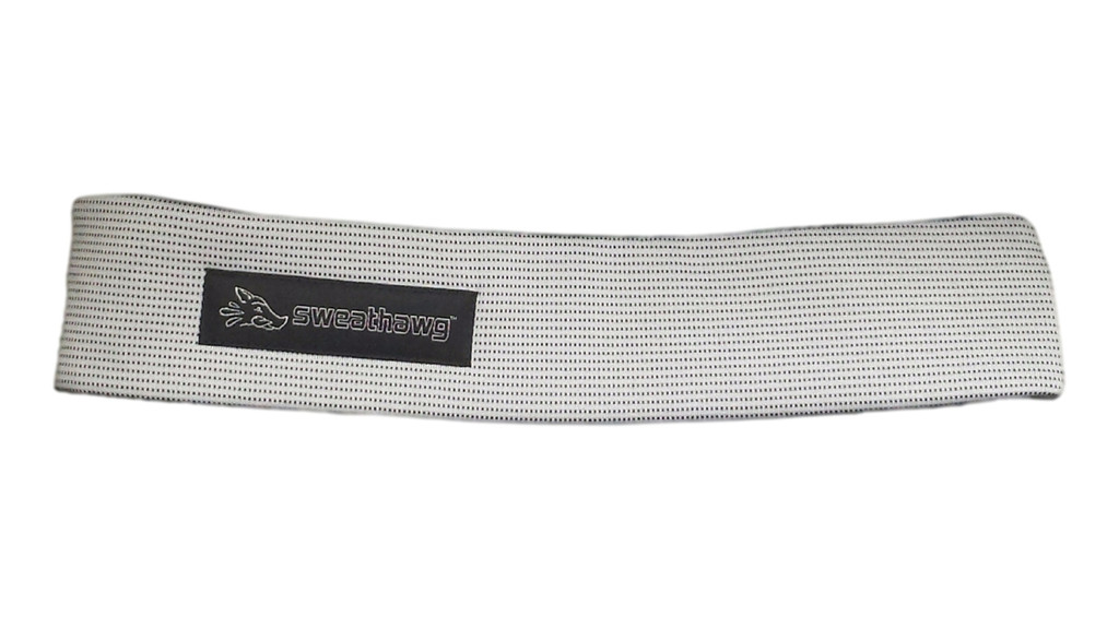 SweatHawg Headband - Ash White