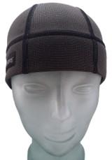 Skull Cap in Charcoal Black