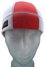 Ash White and Firecracker Red SweatHawg Skull Cap