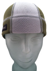 Olive Green and Ash White SweatHawg Skull Cap