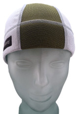 Ash White and Olive Green SweatHawg Skull Cap