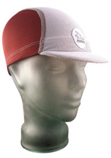 Cycling Cap in Burgundy and Ash White