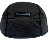 SweatHawg Helmet Liner in Charcoal.  Lightweight bamboo anti-microbial fabric wicks sweat away.