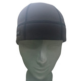Stylish worn alone or under a helmet or hat.  SweatHawg Do-Rag Skull Cap X2 is guaranteed to keep sweat out of your eyes better than any other product out there.  Charcoal black shown.