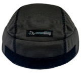 Sweat Helmet Liner X² - Hook and Loop in Charcoal Black