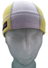 Lemon Yellow and Ash White SweatHawg Skull Cap