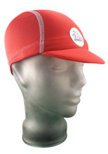 Cycling Cap in Firecracker Red