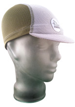 Cycling Cap in Olive Green and Ash White