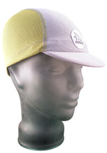 Cycling Cap - Lemon Yellow and Ash White