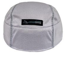 Helmet Sweat Liner in white.  Ultra absorbent material.  By SweatHawg Headwear