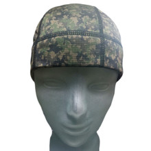 SweatHawg's Do-Rag Skull Cap in Camo and Charcoal (not quite black)