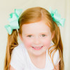 Our navajo turquoise Jennifer bow is oh so cute on a big set of pigtails!