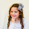 Our Harper Houndstooth hair bow is perfect for a stylish girl, and our clips really stay in place