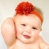 Annabelle. Dressy Satin Eyelet Flower Hair Clip or Baby Headband