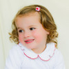 Toddler Barrette Argyle Red and Pink