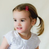 Toddler Barrette Red Anchors Nautical Hair Clips