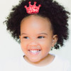 Princess Crown Clip. Glitter Toddler Hair Clippies.