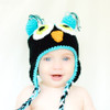 Crocheted Owl Hat. Crocheted Winter COMFY Baby Hat.