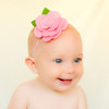 Allie. Felt Flower Baby, Toddler, Big Girl Skinny Elastic Headband.