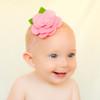 Allie. Felt Flower Baby, Toddler, Big Girl Skinny Elastic Headband.