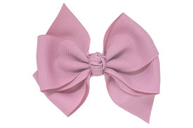 Quartz Callie pinwheel classic grosgrain bow for toddlers, on your choice of our no-slip hair clips