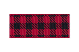 Buffalo Plaid functional toddler hair clips for fine hair