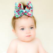 Hawaiian Floral Big Hair Bow. Oaklee. Bitty Bows d96fbb03596