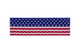 USA! USA! Show your American pride with this flag hair clip!