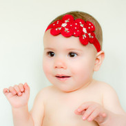 Linen Flower Baby Or Infant Headband Lulu Bitty Bows