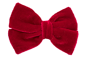 Red velvet toddler hair bow, perfect for Christmas!