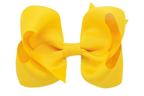 Jennifer classic grosgrain yellow hair bows for girls