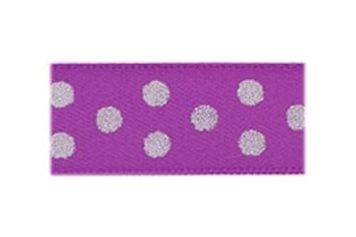 Toddler Barrette Grape Sparkle Dots