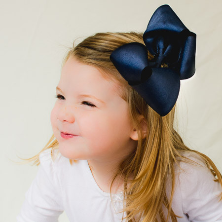 Caroline. Big Girl Hair Bow or Stretchy Baby Headband.