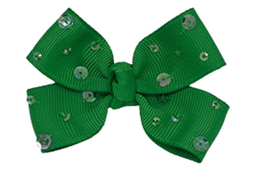 Haven. Sequined Baby or Toddler Hair Bow.
