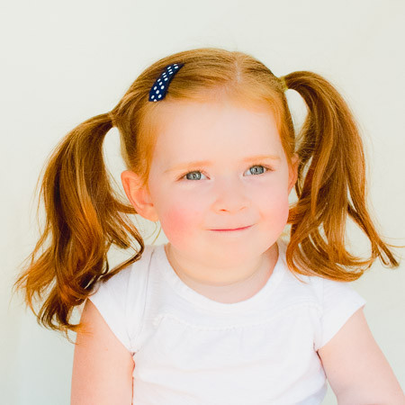 Toddler Barrette Primary Polka. Buy 4 (or more) and save $1.50 each!