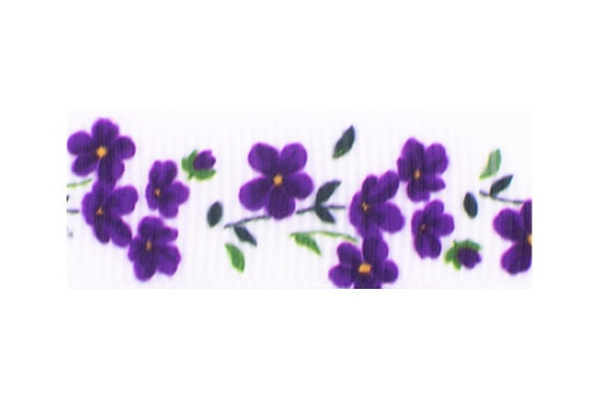 Amethyst purple floral hair clips