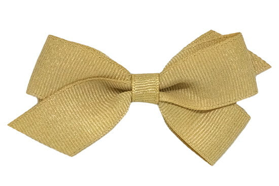 Nola metallic gold baby hair bow, perfect for the holidays