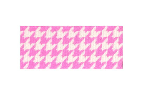 Hot pink and white houndstooth hair clip