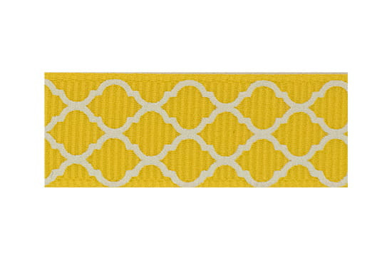 Primary yellow and white toddler barrette for fine hair