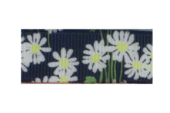 Our white daisies hair clip on a black background is so sweet for little girls with fine hair!