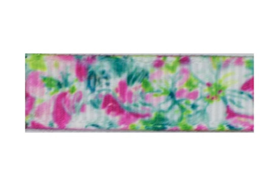 Variegated Pinks, blue, and green floral