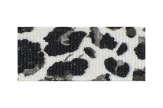 Black, Grey, and White Animal Print Toddler Barrette