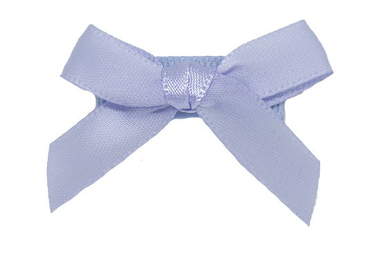Millennium Blue Satin Baby Bow shown on bitty clip