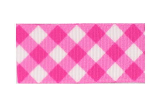 Toddler Barrette Hot Pink Plaid