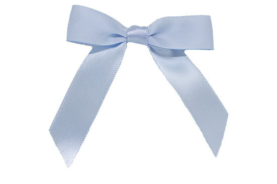 Our Karrington satin baby bow with tails is adorable on a tiny infant